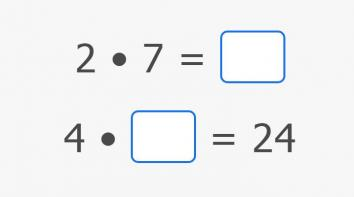 Multiply by 2 and 4