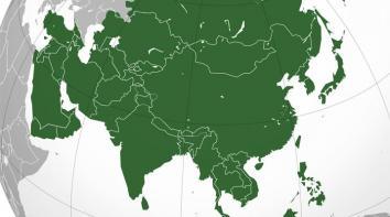 Slika Azijske države po veličini