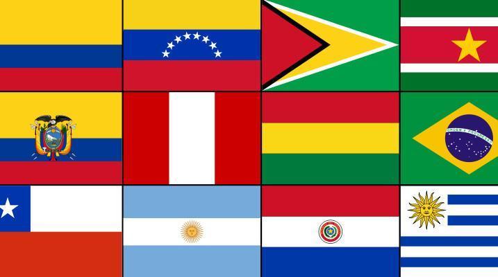 Zastave južno ameriških držav