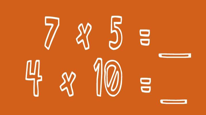 Multiply by 5 and 10