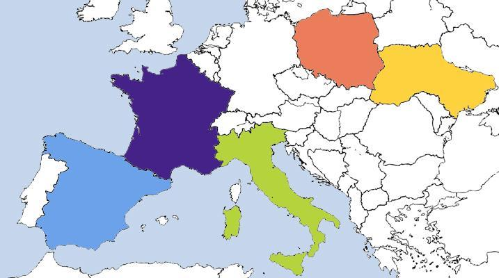 European countries by area