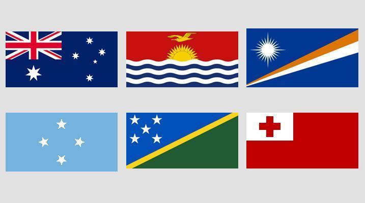 Image Flags of Oceania quiz