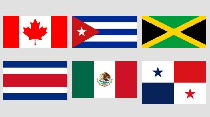 Slika Zastave Severne in Srednje Amerike