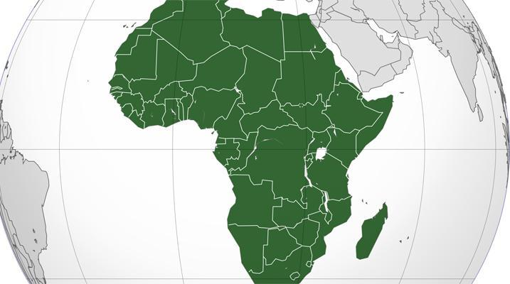 Image African countries by area