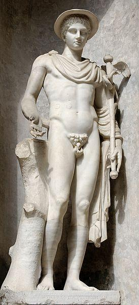 Greek god of travel and trade Hermes